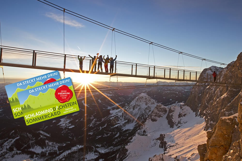 Free access to the Dachstein with the Summe Ccard