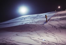 Night skiing in Schladming